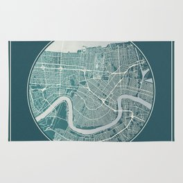 New Orleans Map Planet Rug