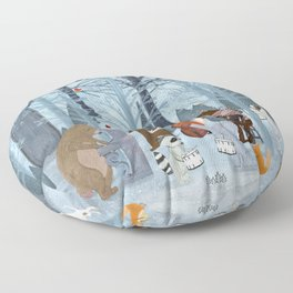 little nature symphony Floor Pillow