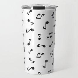 Music Pattern   Note Instrument Musical Listening Travel Mug
