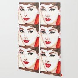 Audrey Hepburn Portrait Wallpaper