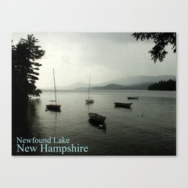 Newfound Lake New Hampshire Poster Canvas Print