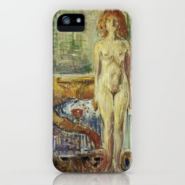 The Death of Marat II by Edvard Munch iPhone Case