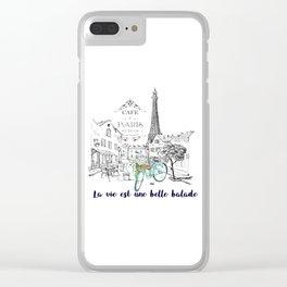 La vie est une belle balade Clear iPhone Case