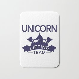 Unicorn Lifting Team Weight Lifting graphic Bath Mat