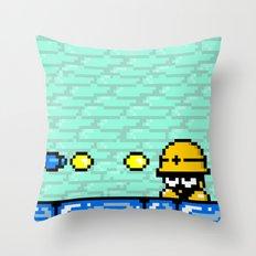 Minion's Last Rites: Mega Man's Metool Throw Pillow