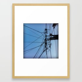Down to the Wire Framed Art Print
