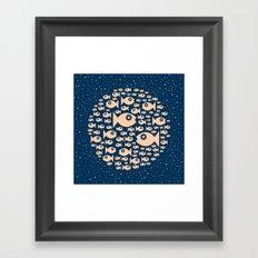 Fish Circle Framed Art Print