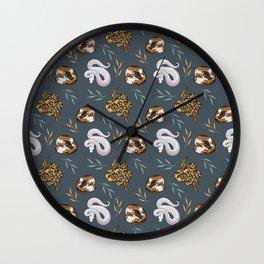 Ball pythons pattern Wall Clock