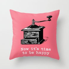 Music- Time to be happy vintage inspired Throw Pillow