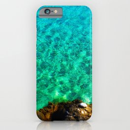 green waters sea lover iPhone Case