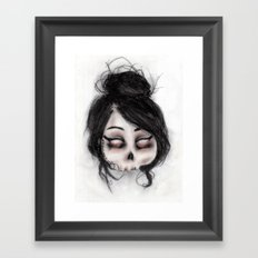 The inability to perceive with eyes notebook II Framed Art Print