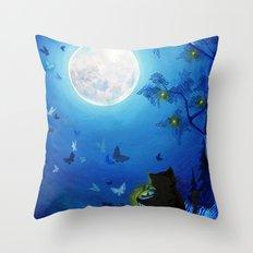 Butterflies and Fairy Lanterns Throw Pillow