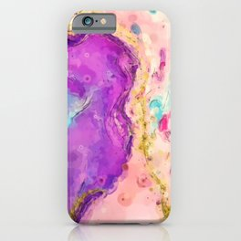 Marble watercolor sketch iPhone Case