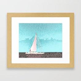 """Sailboat #5"" Art of the Sea by Murray Bolesta Framed Art Print"