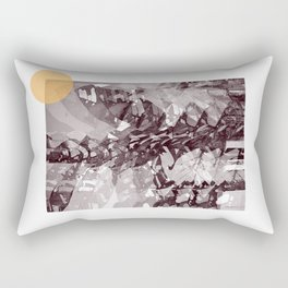 Leaves Shades of gray Rectangular Pillow