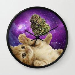 Sunny daze , high riders & rollers space catnip Wall Clock