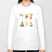 dessert Long Sleeve T-shirts featuring Dessert by Valendji
