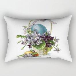 Vintage Easter Basket Rectangular Pillow