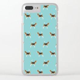 Beagle Design - beagle pillow beagle phone case beagle home decor Clear iPhone Case