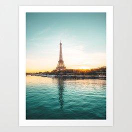 Eiffel Tower, Paris France v1 Art Print