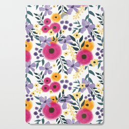 Spring Floral Bouquet Cutting Board
