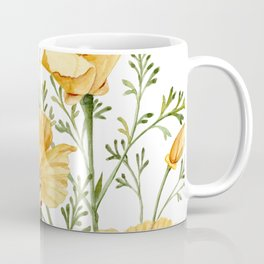California Poppies - Watercolor Painting Coffee Mug