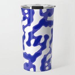 Bright Abstract Camo Pattern Travel Mug