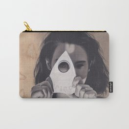 Realism Drawing of Beautiful Woman with Ouija Planchette Piece Carry-All Pouch