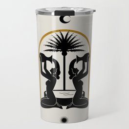 The golden fountain II Travel Mug
