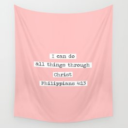 I Can Do All Things Typewriter Wall Tapestry