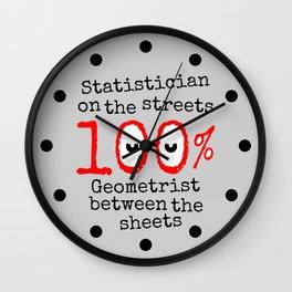 Math Geek Wall Clock