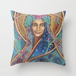 Shakti Creates by Justine Aldersey-Williams Throw Pillow