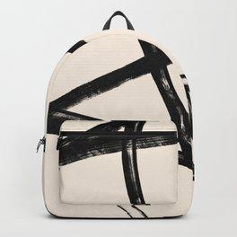 Brush stroke circles and feelings #130 Backpack