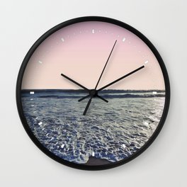 When The Waves Kiss The Shore Wall Clock