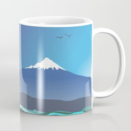 Mont Taranaki From The Sea Coffee Mug