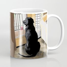 Black Lab Dog Coffee Mug
