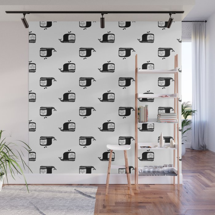 Whale pattern Wall Mural