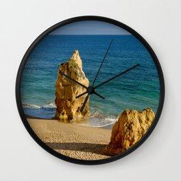 Praia da Rocha rocks Wall Clock
