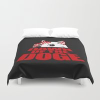 doge Duvet Covers featuring Dawn of the Doge by Tabner's