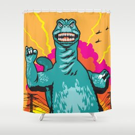 Oh No There Goes Tokyo Shower Curtain