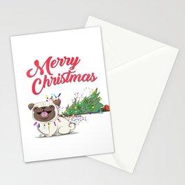 Koko Pug Christmas Stationery Cards