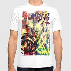 Wilted MEDIUM White Mens Fitted Tee