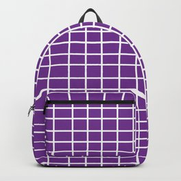 Squares of Purple Backpack