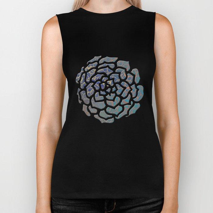 Abstract Roses Biker Tank