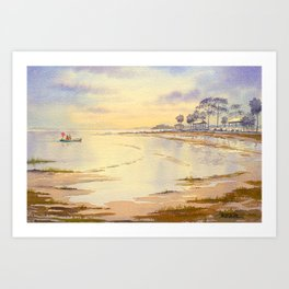 Scalloping At Hagens Cove And Keaton Beach Art Print