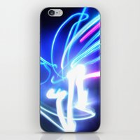 neon iPhone & iPod Skins featuring Neon by Monica Ortel ❖