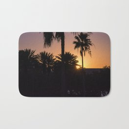 Backlight with palm trees Bath Mat