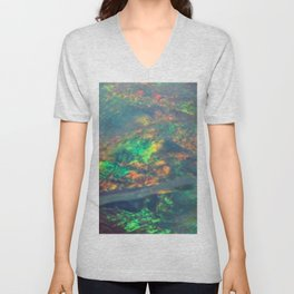 Fire Opal Unisex V-Neck