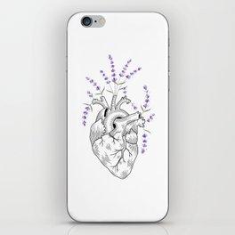 Lavender Human Heart iPhone Skin