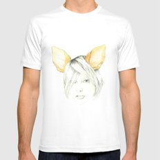 Chihuahua girl White SMALL Mens Fitted Tee